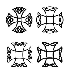 celtic national cross vector image