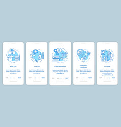 Childcare service onboarding mobile app page vector