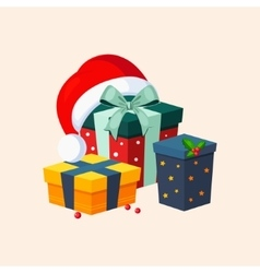 Christmas Presents and Hat vector
