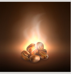 coffee grains beans dropping vector image