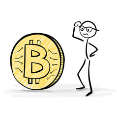 confused about bitcoin vector image
