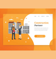 construction company landing page template vector image