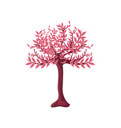 Decorative chinese tree on white background vector