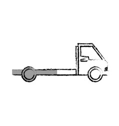 Delivery truck vehicle isolated icon vector