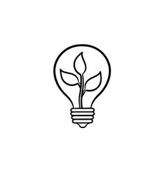ecology energy hand drawn sketch icon vector image