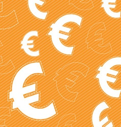 euro money icon background vector image
