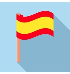 Flag of Spain icon flat style vector image