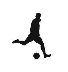 football player silhouette vector image