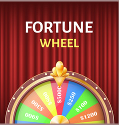 fortune wheel with colored segments gambling vector image