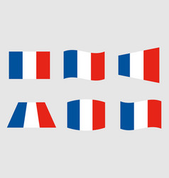 France flag official colors vector