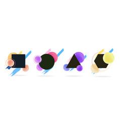 gradient on different figures vector image