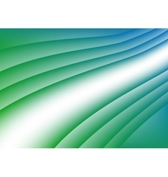 Green blue wave background vector