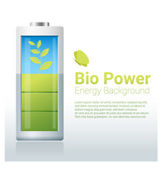 green energy concept background with bio energy vector image