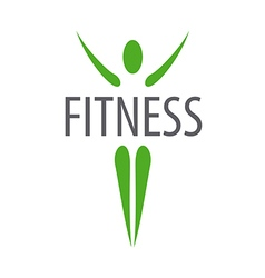 Green logo for fitness club vector