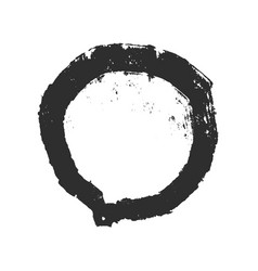 grunge circle frame vector image