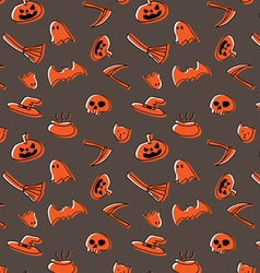 Happy halloween pattern design vector