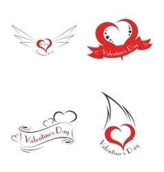 Happy Valentine s Day logo vector