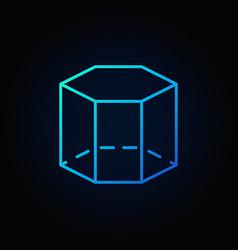 Hexagon 3d line icon vector