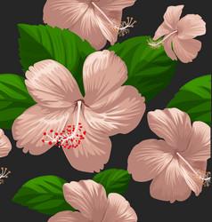 hibicus flowers pattern 7 vector image