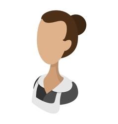 Housemaid cartoon icon vector