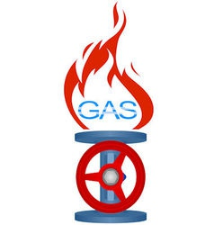 Icon gas industry 2 vector image