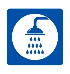 icon with shower and drops vector image
