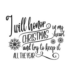 Inspirational christmas quote vector