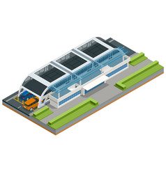 isometric transit elevated bus in china vector image