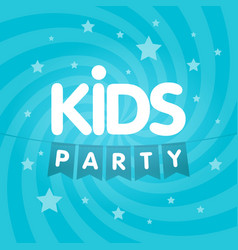Kids party letter sign poster vector