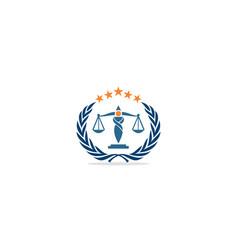 law justice company logo vector image