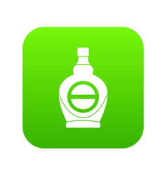 Maple syrup in glass bottle icon digital green vector