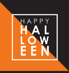 Minimal halloween background vector