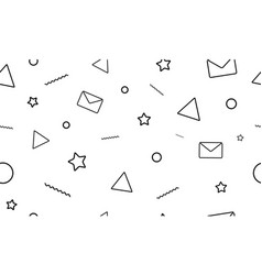 modern minimalistic style seamless pattern vector image
