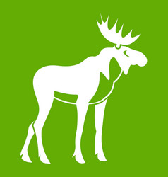 moose icon green vector image
