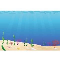 Ocean floor seabed vector