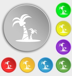 Paml icon sign Symbol on eight flat buttons vector