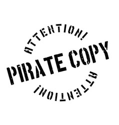 pirate copy rubber stamp vector image