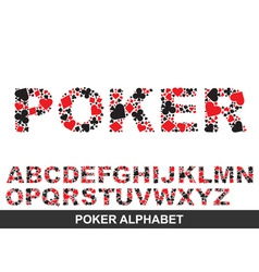 poker alphabet from a to z vector image