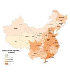 population map china vector image