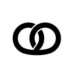 Pretzel icon graphic elements for your design vector