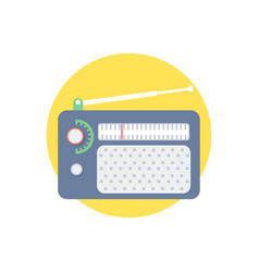 radio icon sign symbol vector image