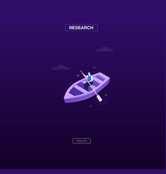 research concept - modern isometric web vector image