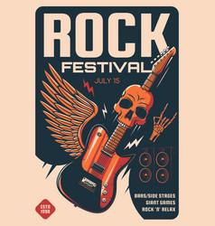 Rock festival heavy music poster vector