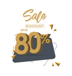 Sale discount up to 80 template design vector