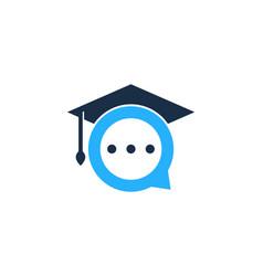 school chat logo icon design vector image