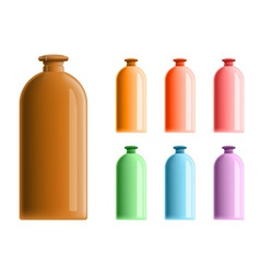 simple plastic bottles vector image