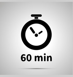 sixty minutes timer simple black icon vector image