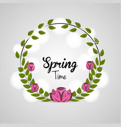 Spring blossom icon image vector