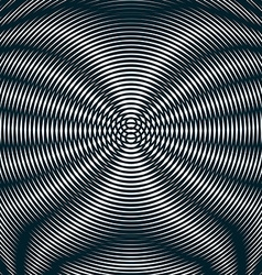 Striped psychedelic background with black and vector