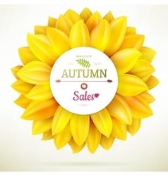 Sunflower autumn sale eps 10 vector